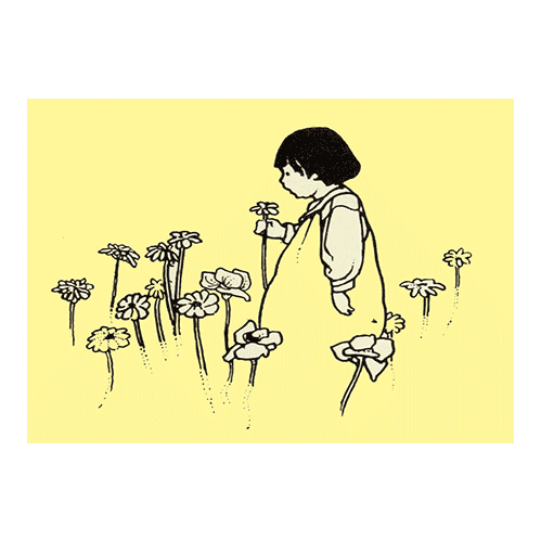 flower girl with border