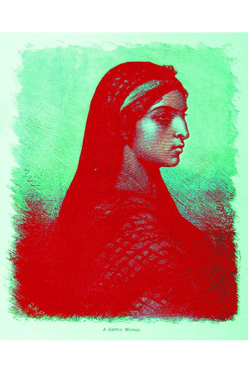 fine art giclee print koptic woman