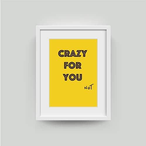 slogan art print
