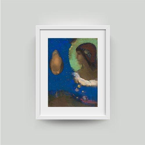 framed odilon reddon sita print