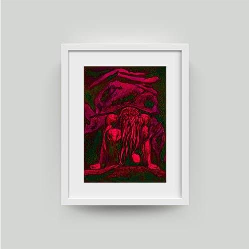 william blake art print framed