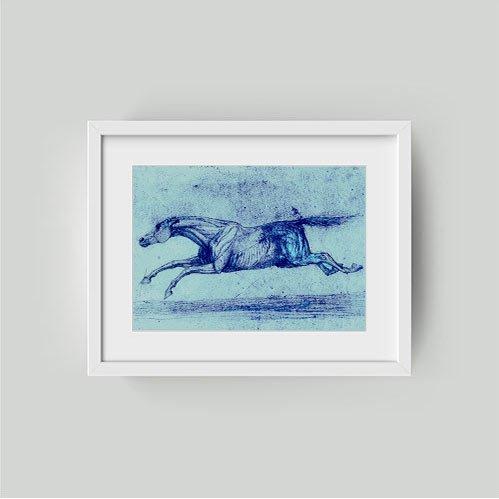 race horse fine art print framed