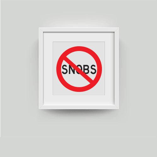 viktor and eartha snobs print framed