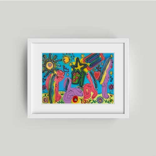 mikkel ullah framed print