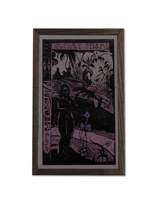 cult art gaugin print framed
