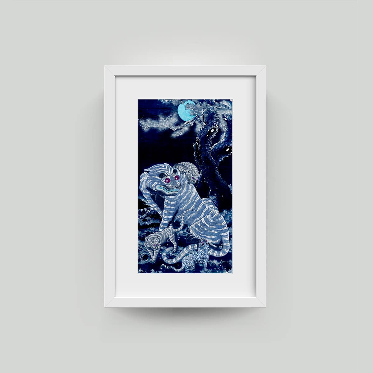 TIGER ART PRINT FRAMED