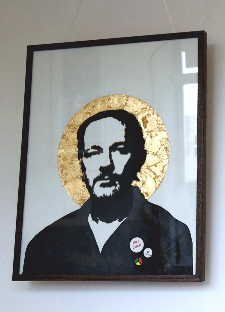julian assange print