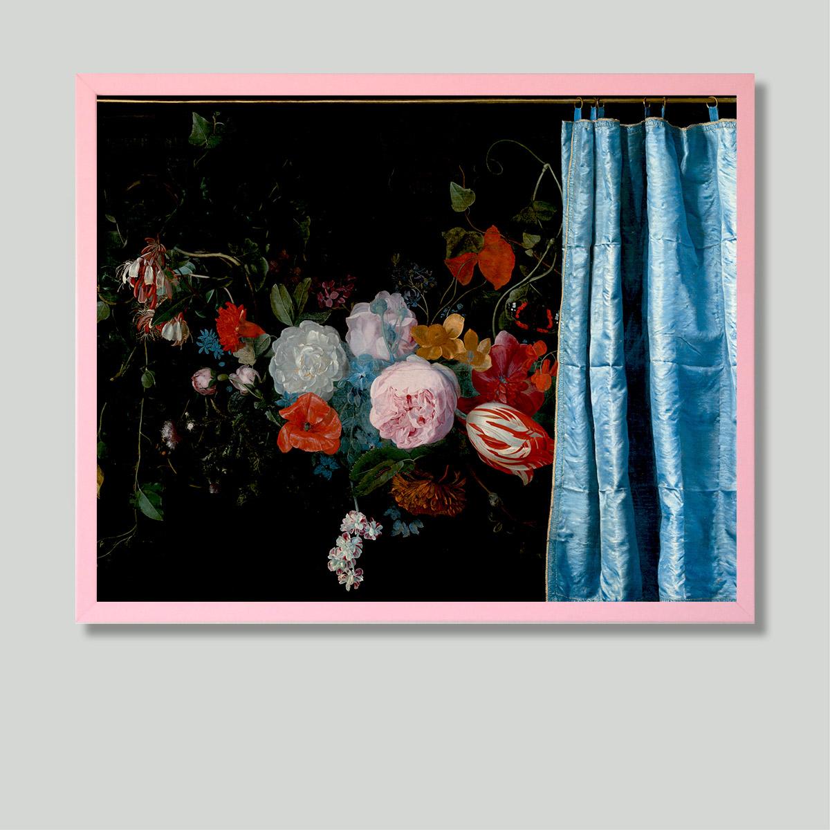 floral art print framed