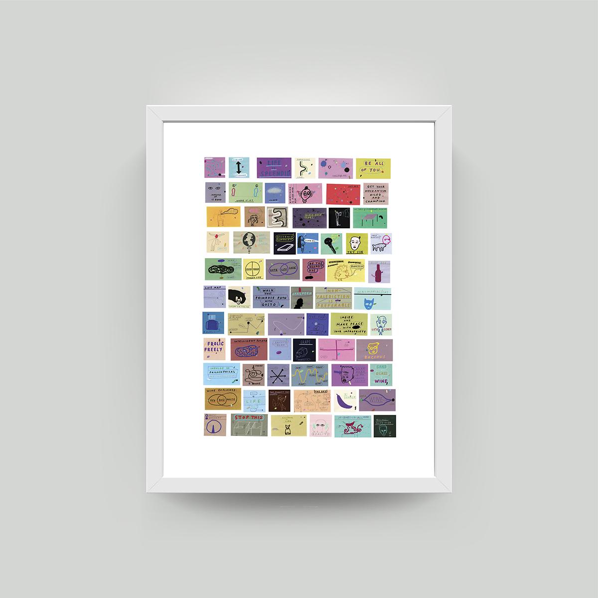 paul davis framed art