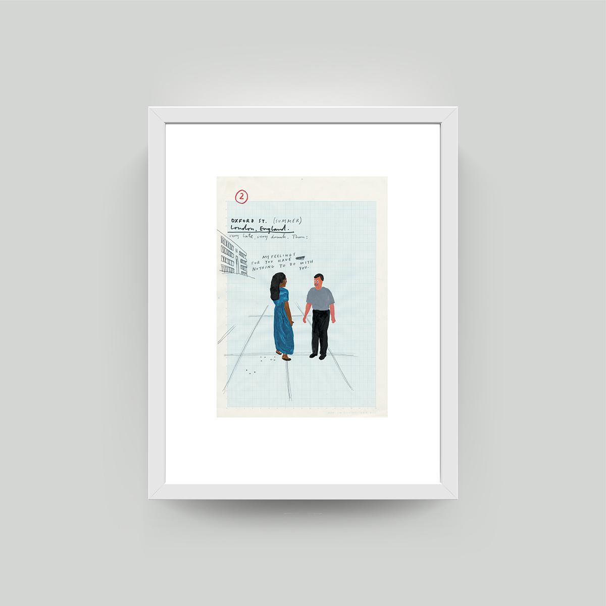 framed paul davis print